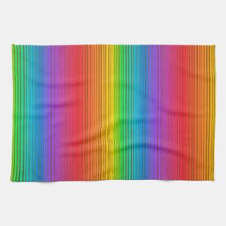 Colorful Rainbow Background Tea Towel