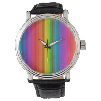 Colorful Rainbow Background Watch