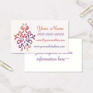 Colorful Rainbow Baroque Business Card