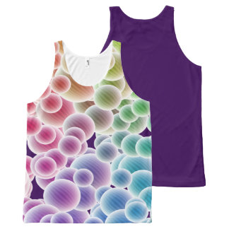 Colorful Rainbow Bubbles All-Over-Print-Top All-Over Print Tank Top
