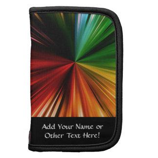 Colorful Rainbow Burst Abstract Digital Art Design Planners