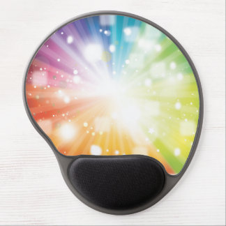 Colorful Rainbow Burst Gel Mouse Pad