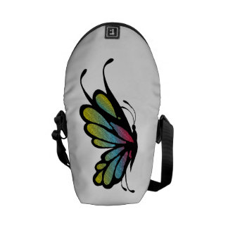 Colorful Rainbow Butterfly Commuter Bag