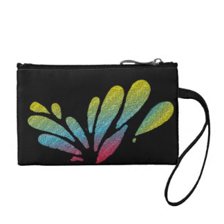 Colorful Rainbow Butterfly Wings Coin Purse