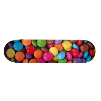 Colorful rainbow candy sweets skateboard deck