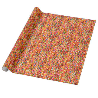 Colorful Rainbow Candy Sweets Sprinkles Wrapping Paper
