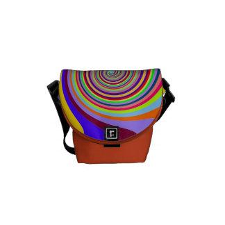 Colorful Rainbow Circles Messenger Bag