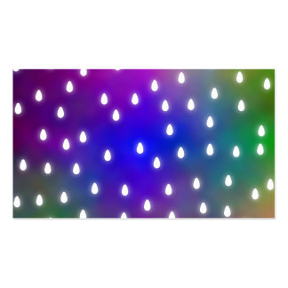 Colorful Rainbow Clouds with White Raindrops. Business Card Template