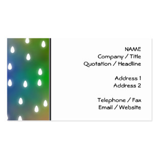 Colorful Rainbow Clouds with White Raindrops. Double-Sided Standard Business Cards (Pack Of 100)