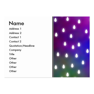 Colorful Rainbow Clouds with White Raindrops. Large Business Cards (Pack Of 100)
