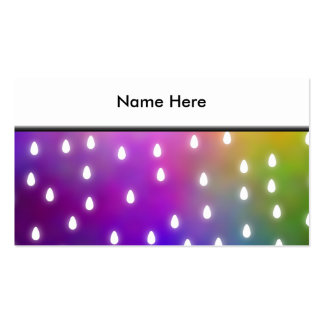 Colorful Rainbow Clouds with White Raindrops Business Card Templates