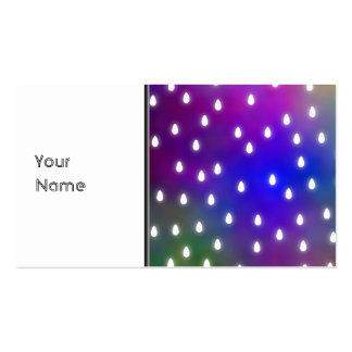Colorful Rainbow Clouds with White Raindrops. Pack Of Standard Business Cards