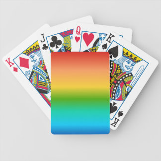 Colorful Rainbow color gradient Bicycle Playing Cards