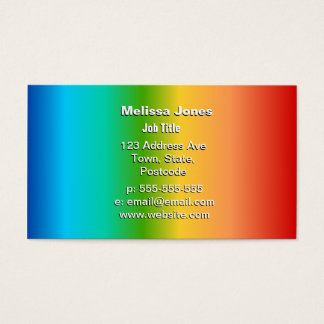 Colorful Rainbow color gradient Business Card