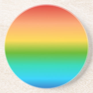 Colorful Rainbow color gradient Coaster