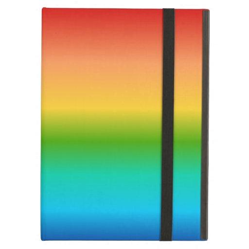 Colorful Rainbow color gradient iPad Folio Cases