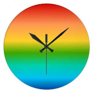 Colorful Rainbow color gradient Large Clock