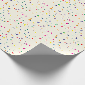 Colorful Rainbow Colored Confetti Wrapping Paper