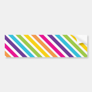 Colorful Rainbow Diagonal Stripes Gifts for Teens Bumper Sticker
