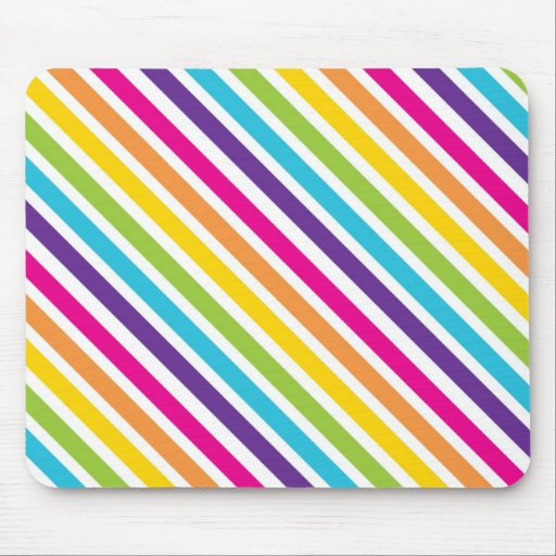 Colorful Rainbow Diagonal Stripes Gifts for Teens Mouse Pads