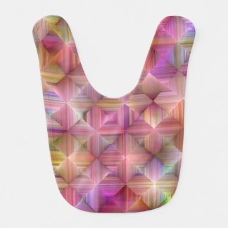 Colorful Rainbow Diamond Design Bib