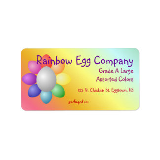 Colorful Rainbow Eggs Egg Carton Label Address Label