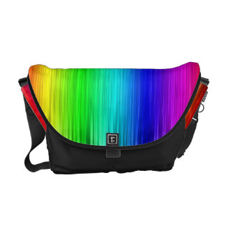 Colorful Rainbow Fibers Messanger Bags Commuter Bags