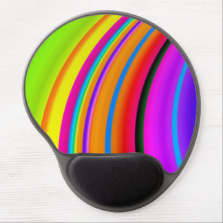Colorful Rainbow Fine Fractal Art Gel Mouse Pad