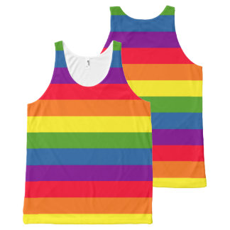 Colorful Rainbow Flag Gay Pride All-Over Print Tank Top