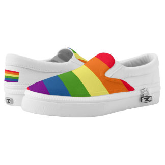 Colorful Rainbow Flag Gay Pride Slip On Shoes