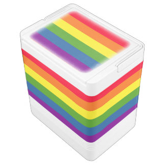 Colorful Rainbow Flag Stripes Igloo Cooler