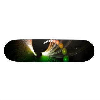 Colorful Rainbow Fractal Art Skate Deck
