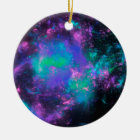 colorful rainbow fractals christmas ornament