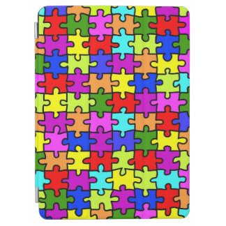 Colorful rainbow jigsaw puzzle pattern iPad air cover