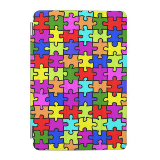 Colorful rainbow jigsaw puzzle pattern iPad mini cover