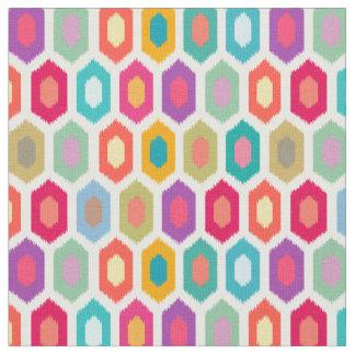 Colorful Rainbow Modern Ikat Pattern