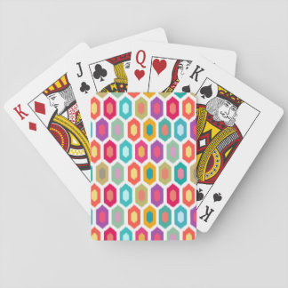 Colorful Rainbow Modern Ikat Pattern Card Deck