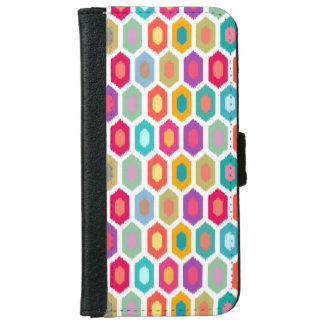 Colorful Rainbow Modern Ikat Pattern iPhone 6 Wallet Case