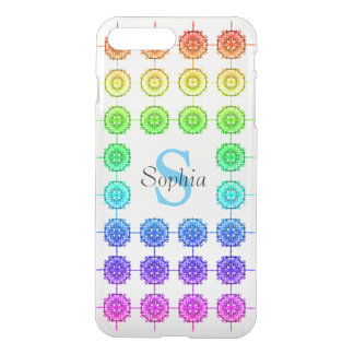 Colorful Rainbow Pattern Monogram Uncommon Clearly iPhone 8 Plus/7 Plus Case