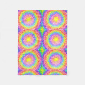 Colorful Rainbow Pattern Psychedelic Blanket