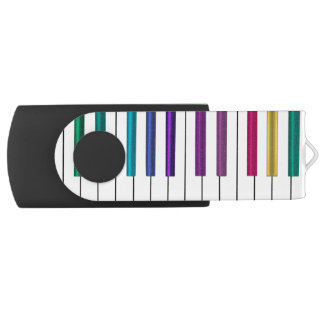 Colorful Rainbow Piano Music USB Flash Drive