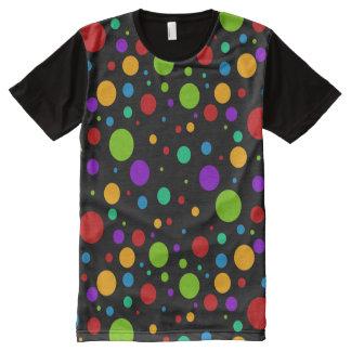 Colorful Rainbow Polka Dots All-Over Print T-Shirt