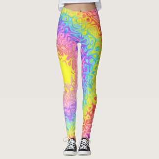Colorful Rainbow Psychedelic Leggings