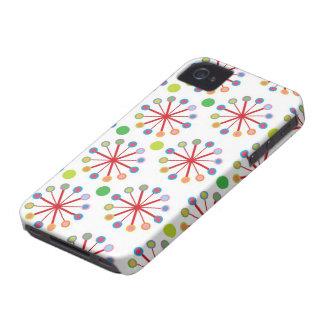 Colorful Rainbow Retro Dots Art iPhone 4 CaseMate Case-Mate iPhone 4 Case