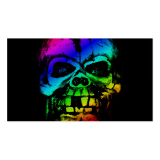 Colorful Rainbow Skull Business Card Template