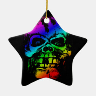 Colorful Rainbow Skull Ceramic Star Decoration