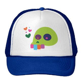 Colorful Rainbow Skull Mesh Hats