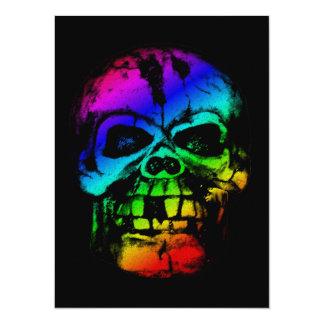 Colorful Rainbow Skull Custom Announcements