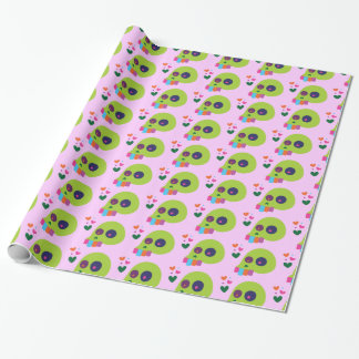 Colorful Rainbow Skull Wrapping Paper