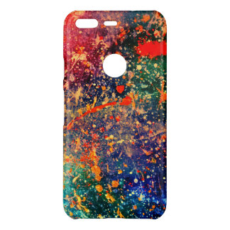 Colorful | Rainbow Splatter Abstract Psychedelic Uncommon Google Pixel Case